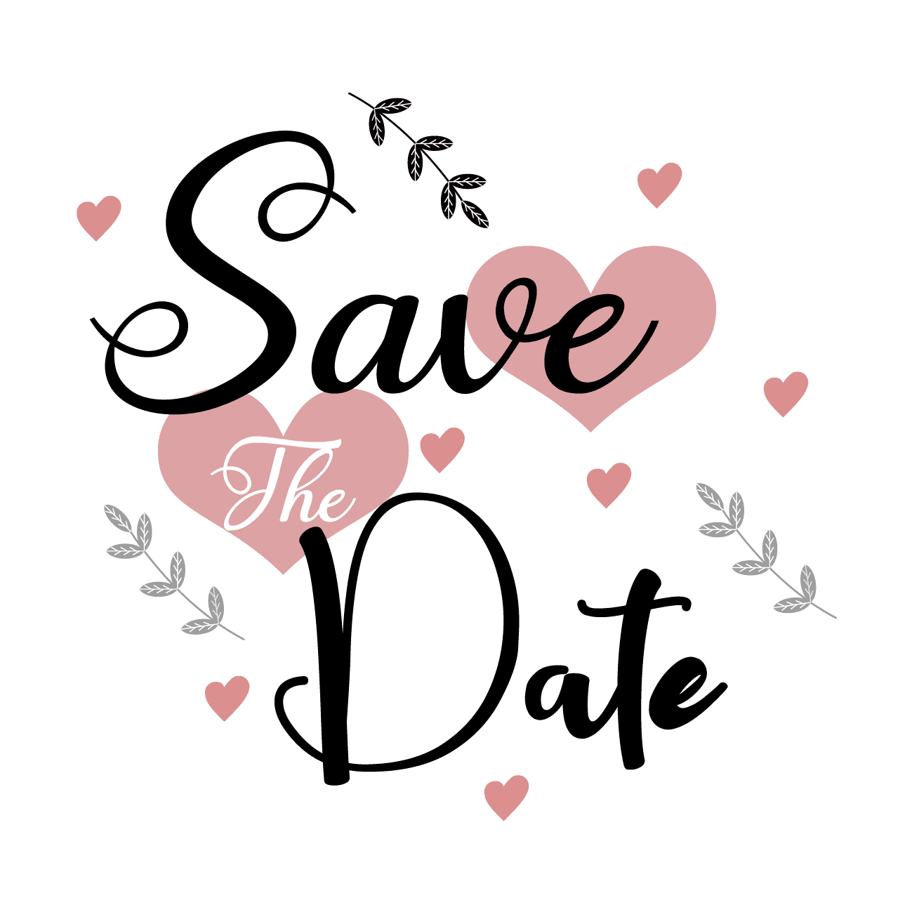 —Pngtree—save the date vector text