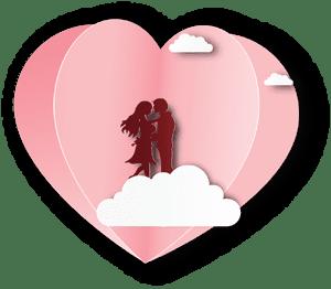 Undangan Nikah love tema 6