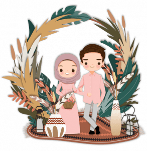 Undangan Nikah couple 1pink